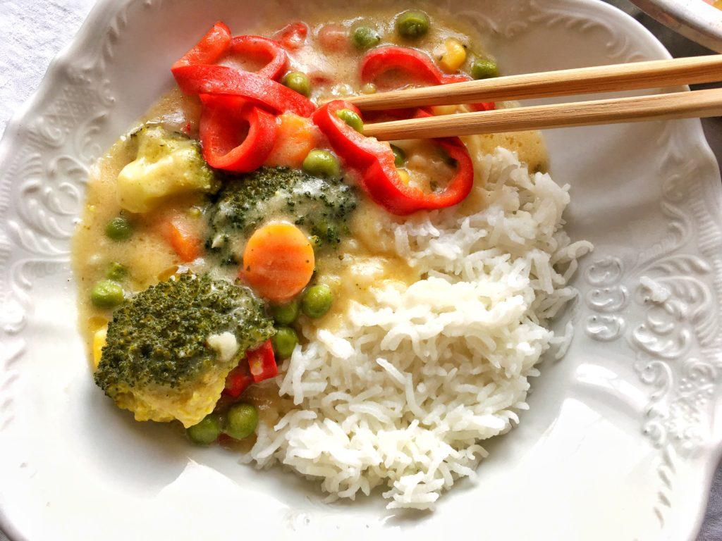 Garam Masala zelenina s rýží